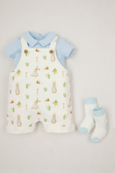 Peter Rabbit 3 Piece Dungaree set