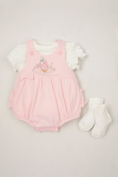 Peter Rabbit Pink Romper set