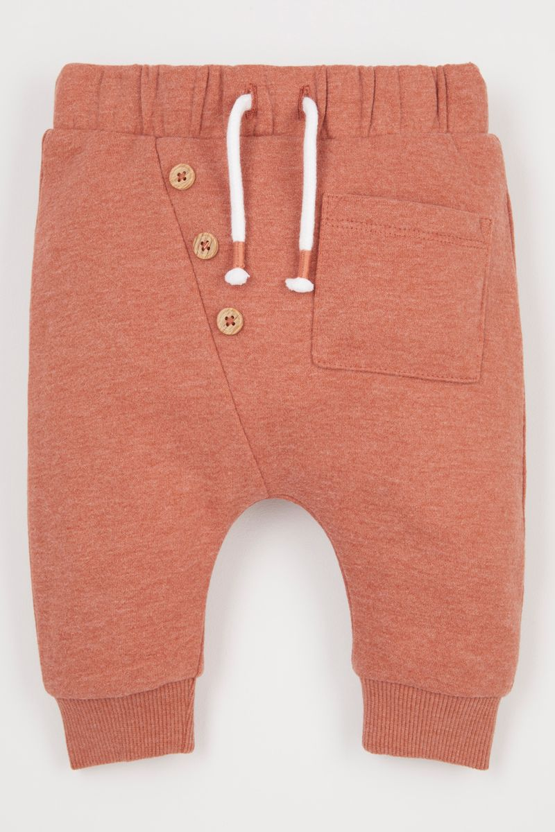 Mock Button joggers