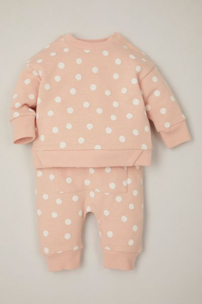 Online Exclusive Pink Spot Sweat set