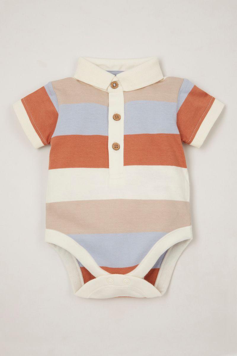 Stripe Polo Shirt bodysuit