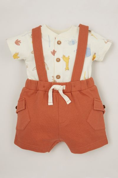 2 Piece Jersey Braced Shorts set