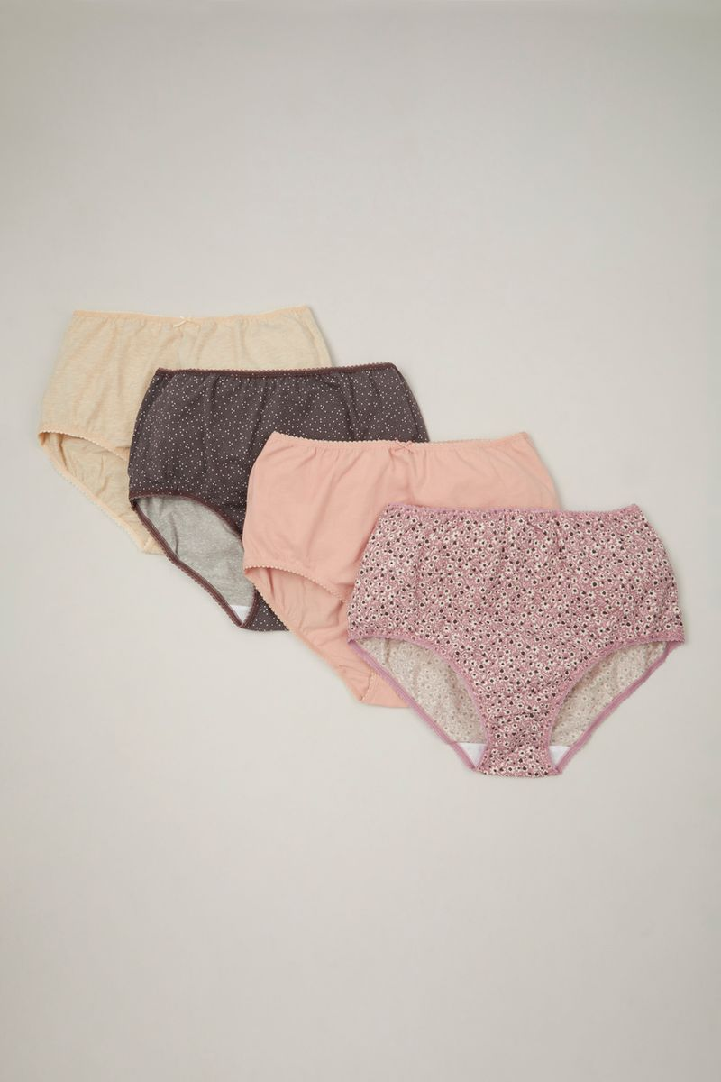 4 Pack Floral Full Briefs
