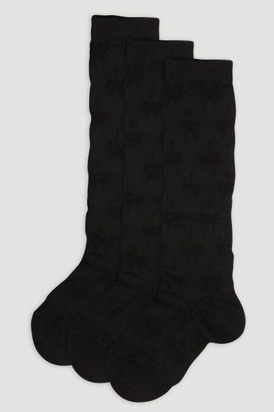5 Pack Black Knee Highs
