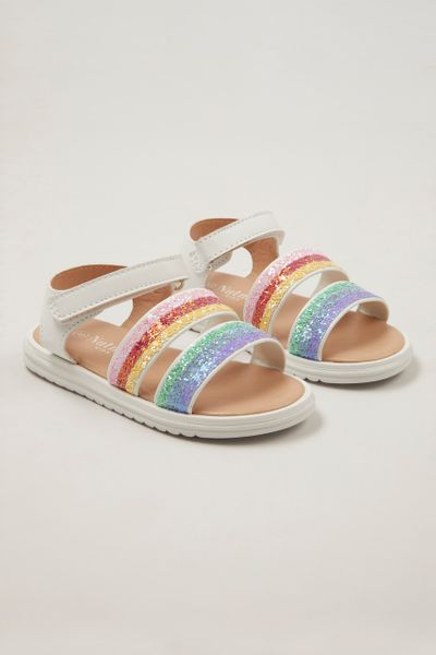 Rainbow Stripe Sandals