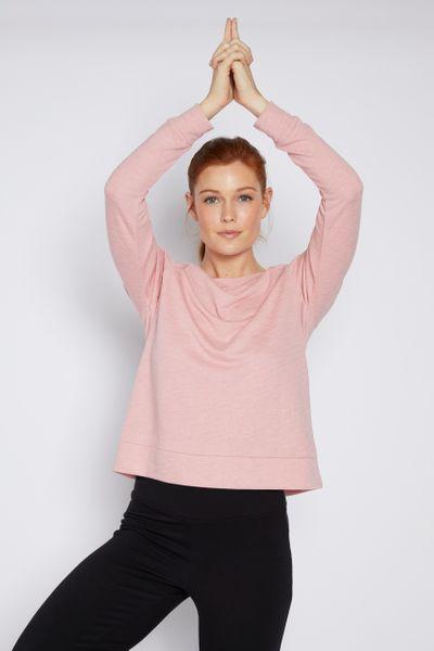 Pink Marl Boxy Sweatshirt