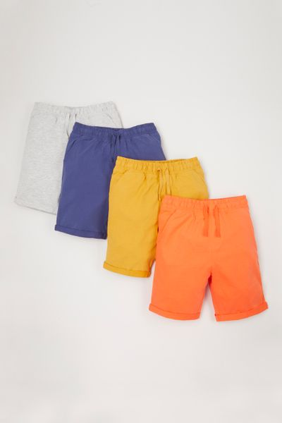 4 Pack Bright Shorts 1-10yrs