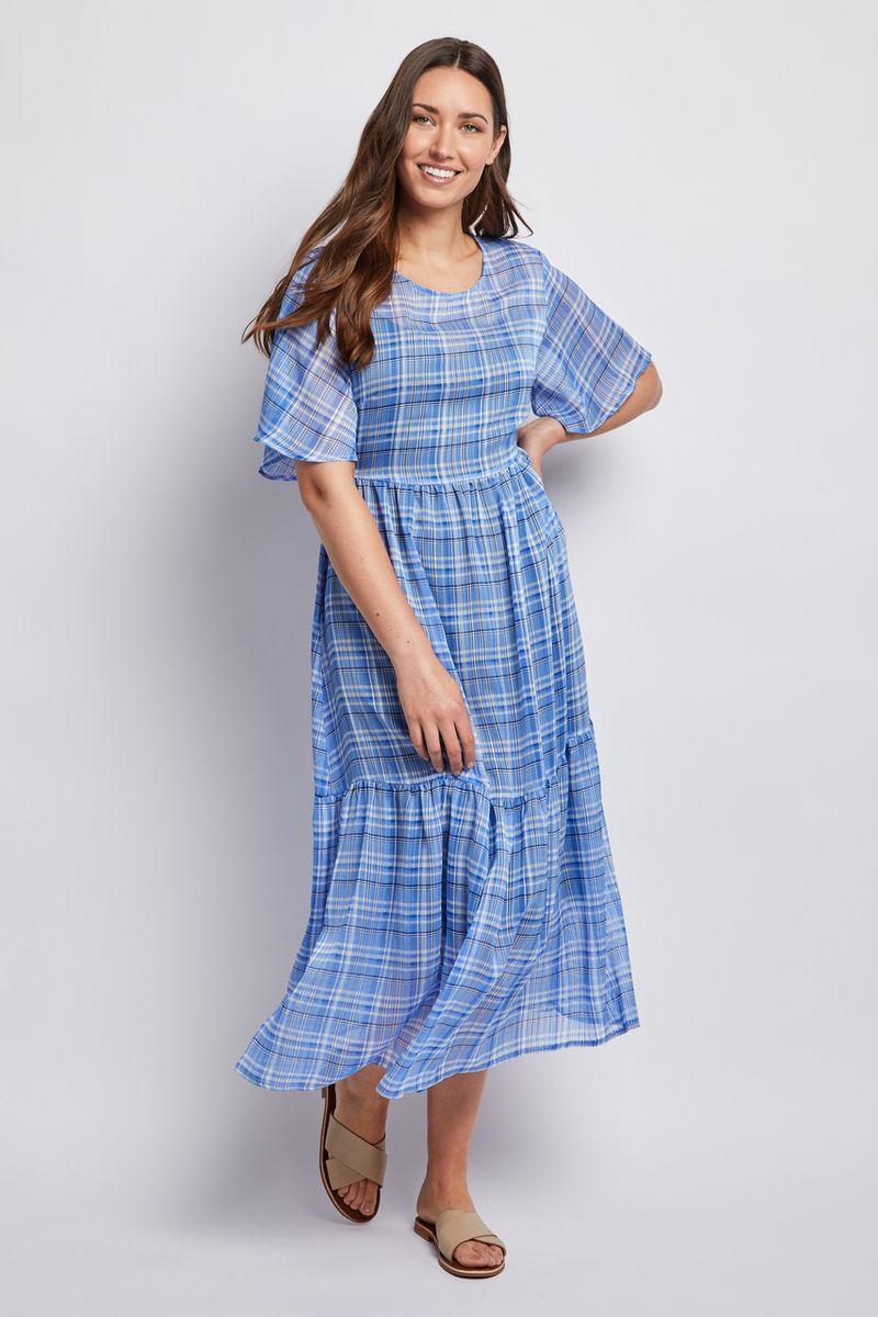 Blue Check Dress