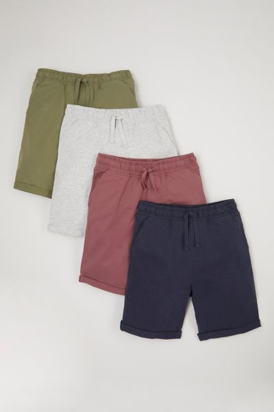 4 Pack Neutral Shorts 1-10yrs