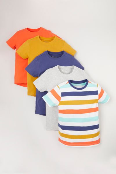 5 Pack Bright T-shirts 1-10 yrs
