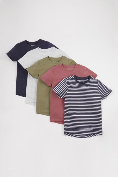 5 Pack Neutral T-shirts 1-10yrs