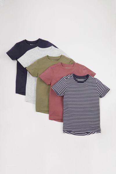 5 Pack Neutral T-shirts 1-10yrs