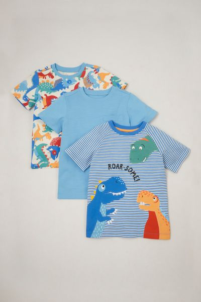 3 Pack Dinosaur T-shirts