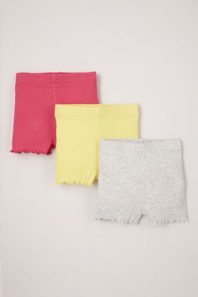 3 Pack Bright Pull-on Shorts