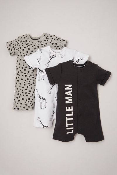 Online Exclusive 3 Pack Little Man rompers