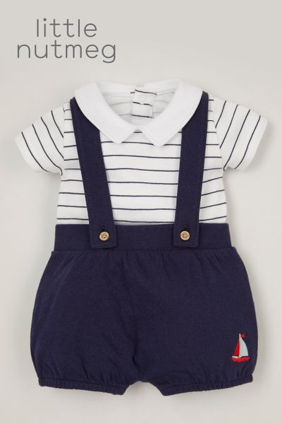 Little Nutmeg Sailor Jersey Short set