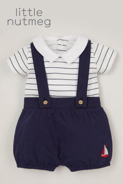 Little Nutmeg Sailor Jersey Short set