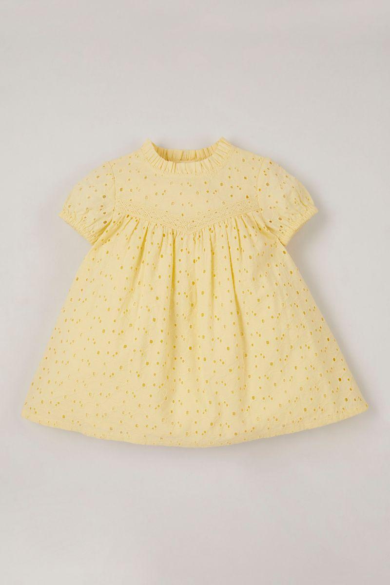 Yellow Broderie dress