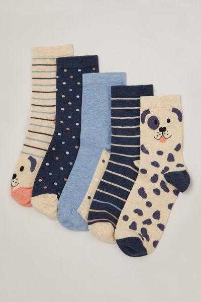 5 Pack Dog Socks