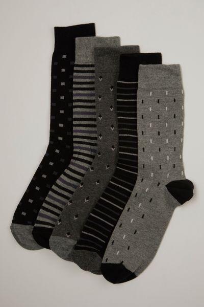 5 Pack Flexitop Socks