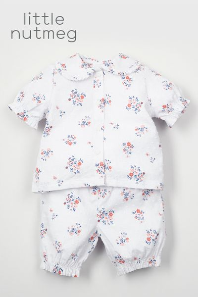 Little Nutmeg Flower Pyjamas