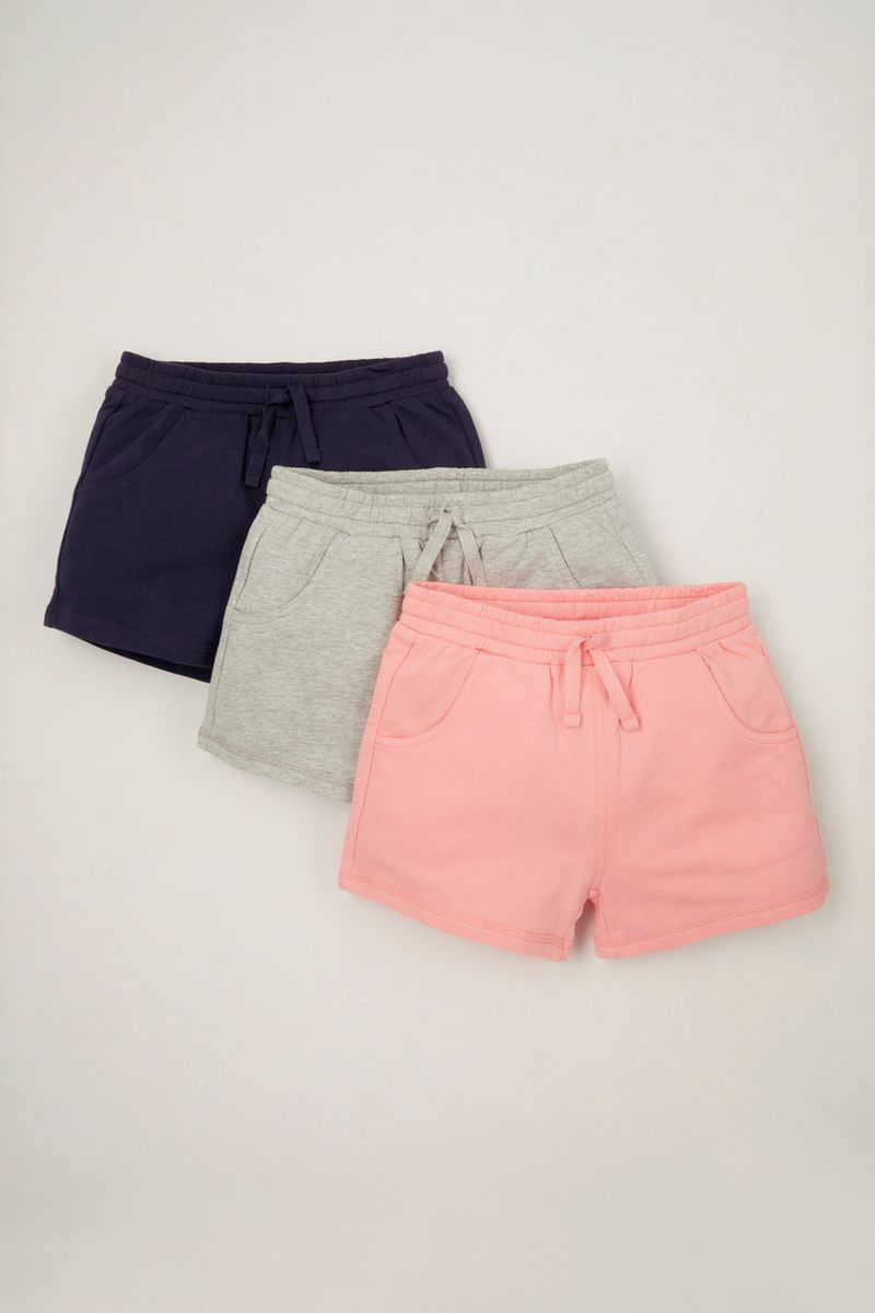 3 Pack Pink Jersey Sweat shorts