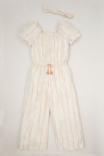 Stripe Jumpsuit & headband