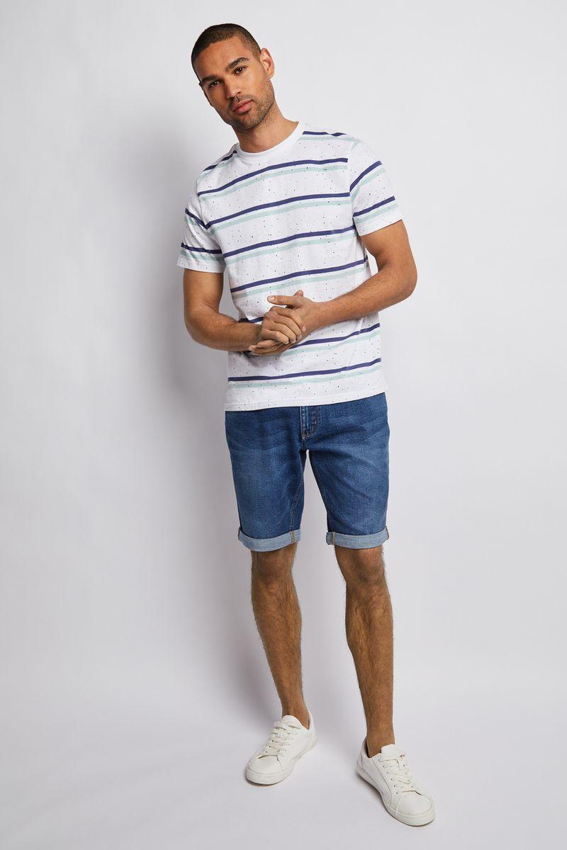 Blue Paint Stripe T-shirt