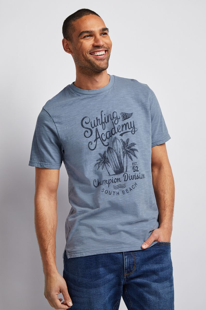 Navy Surf Academy T-shirt