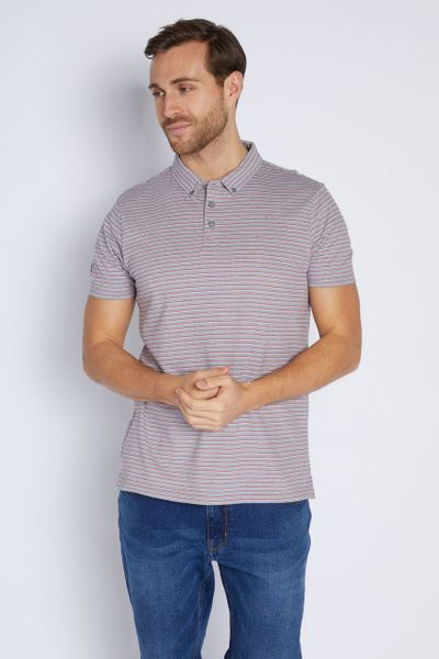 Red Stripe Jersey Polo shirt