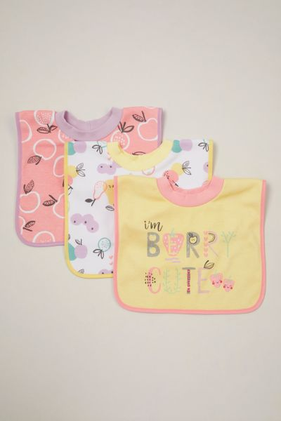 3 Pack Fruit Popover bibs