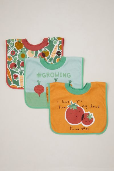 3 Pack Vegetable Popover bibs