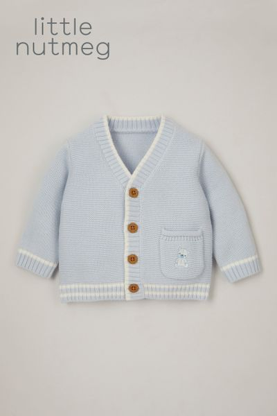 Little Nutmeg Blue Grandad Cardigan