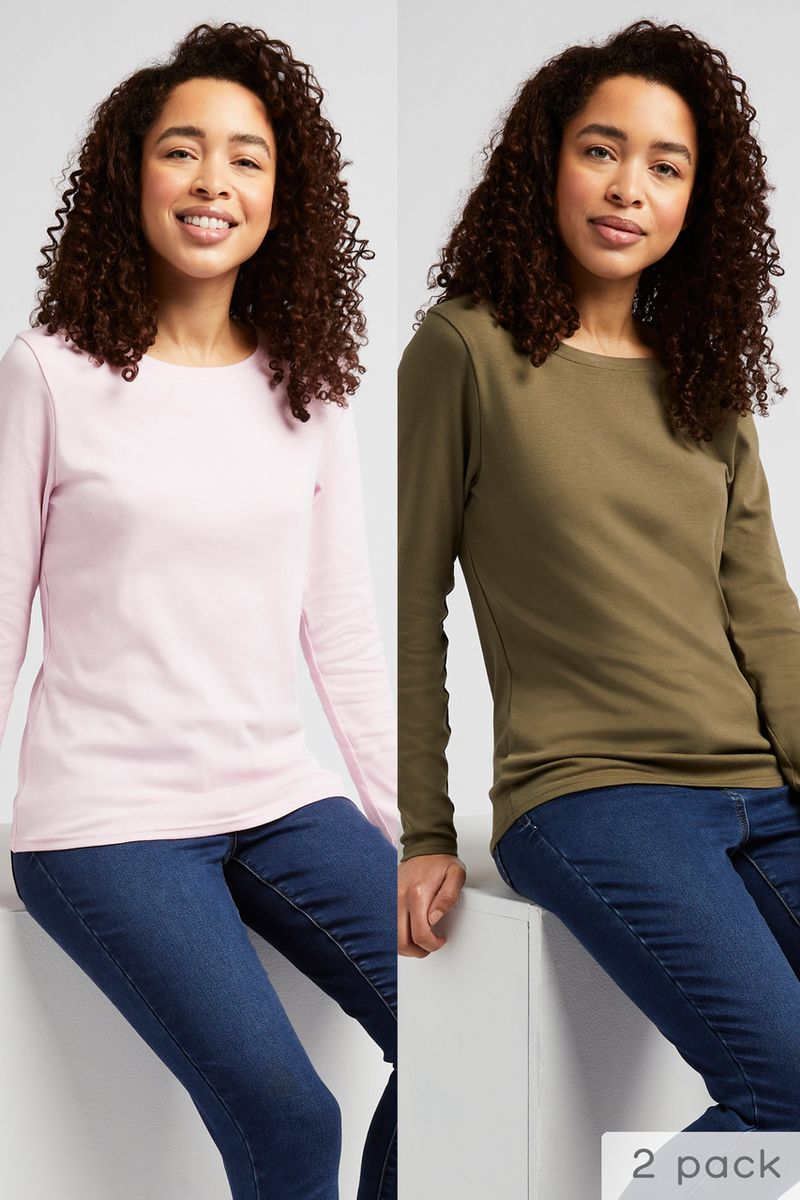 Online Exclusives 2 Pack Khaki & Pink T-shirts