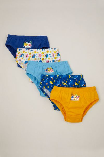5 Pack Pinkfong Blue Baby Shark Briefs
