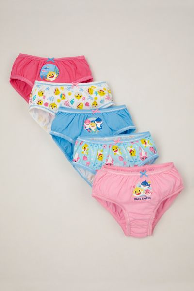 5 Pack Pinkfong Pink Baby Shark Briefs
