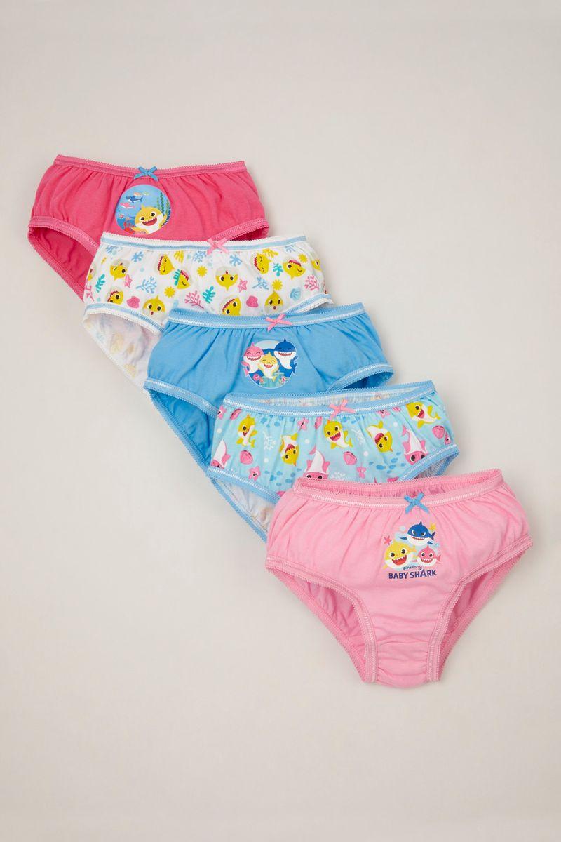 5 Pack Pinkfong Pink Baby Shark Briefs