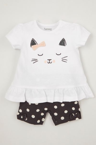 Online Exclusive Cat T-Shirt & shorts