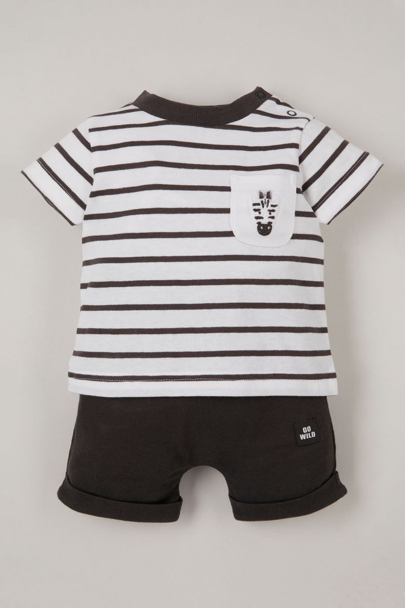 Online Exclusive Zebra T-Shirt & shorts