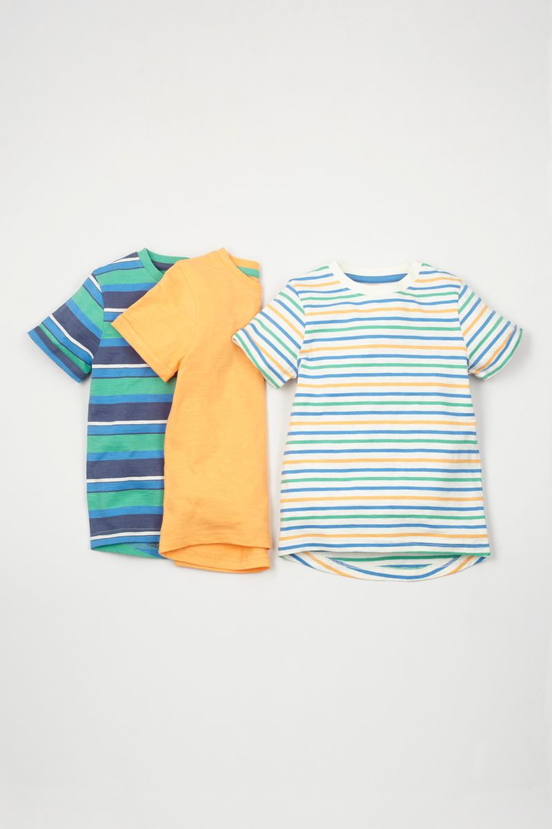 3 Pack Bright Colour T-shirts