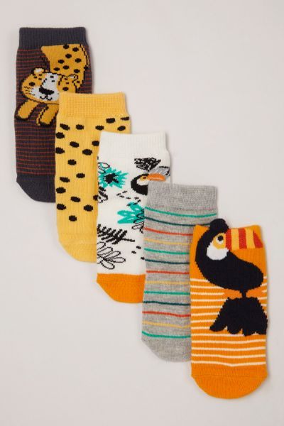 5 Pack Tropical socks
