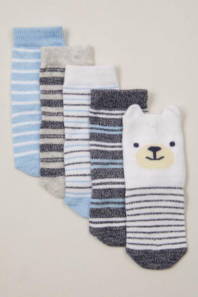 5 Pack Blue Bear socks