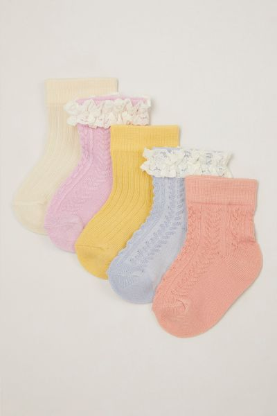 5 Pack Lace Cable Knit socks