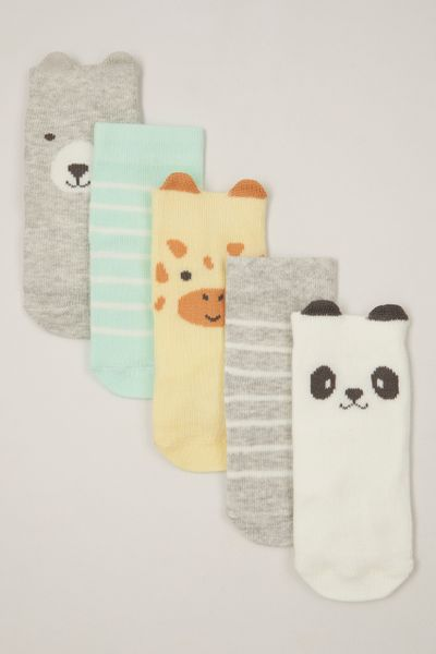 5 Pack Animal faces socks