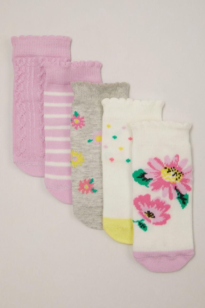 5 Pack Flower socks