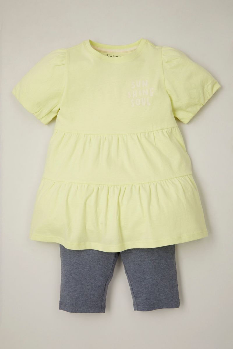 Bright Tiered Top & Shorts set