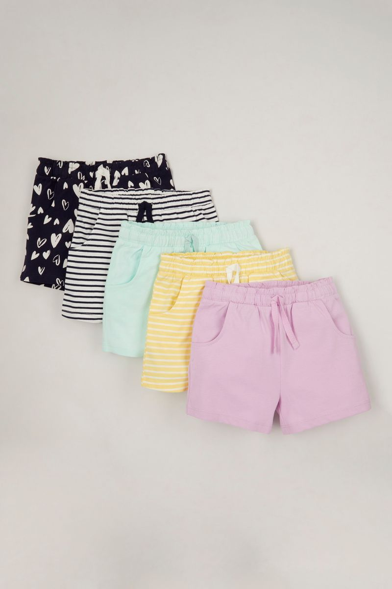 5 Pack Jersey shorts 1-10yrs