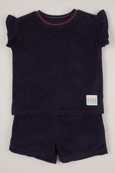 2 Piece Navy Toweling set