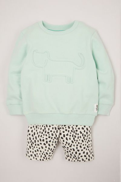 Mint Cat Sweatshirt & shorts
