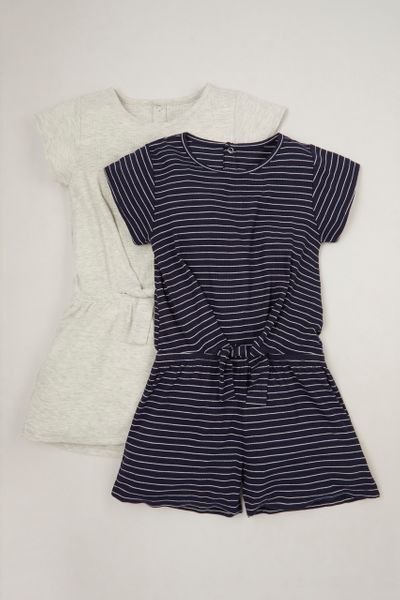 2 Pack Jersey playsuits 1-10yrs